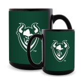 Full Color Black Mug 15oz-Viking Head