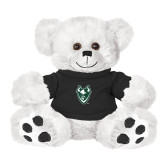 Plush Big Paw 8 1/2 inch White Bear w/Black Shirt-Viking Head