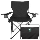 Deluxe Black Captains Chair-Viking Head