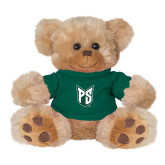 Plush Big Paw 8 1/2 inch Brown Bear w/Dark Green Shirt-Official Logo