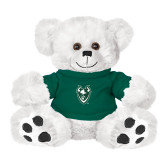 Plush Big Paw 8 1/2 inch White Bear w/Dark Green Shirt-Viking Head