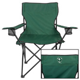 Deluxe Green Captains Chair-Viking Head