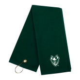Dark Green Golf Towel-Viking Head