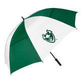62 Inch Forest Green/White Umbrella-Viking Head