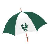 62 Inch Forest Green/White Umbrella-Viking Head