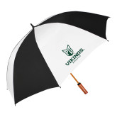 62 Inch Black/White Umbrella-PS Shield Stacked