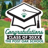 Graduation Cap Yard Sign 24 x 24-Graduation Yard Sign