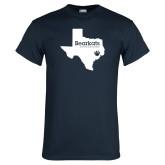 Navy T Shirt-Bearkats Texas
