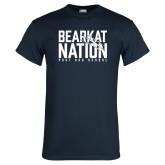 Navy T Shirt-Bearkat Nation