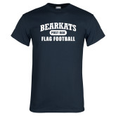 Navy T Shirt-Flag Football