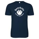 Next Level SoftStyle Navy T Shirt-Paw Logo