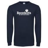 Navy Long Sleeve T Shirt-Bearkats