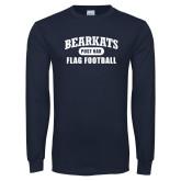Navy Long Sleeve T Shirt-Flag Football