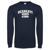 Navy Long Sleeve T Shirt-Bearkats Alumni