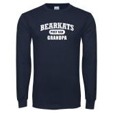 Navy Long Sleeve T Shirt-Bearkats Grandpa