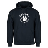 Navy Fleece Hoodie-Paw Logo