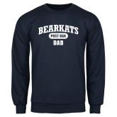 Navy Fleece Crew-Bearkats Dad