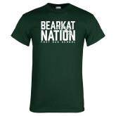 Dark Green T Shirt-Bearkat Nation