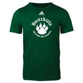 Adidas Dark Green Logo T Shirt-Paw Logo