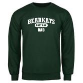 Dark Green Fleece Crew-Bearkats Dad