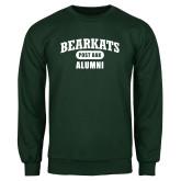 Dark Green Fleece Crew-Bearkats Alumni