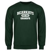 Dark Green Fleece Crew-Bearkats Grandpa