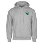 Grey Fleece Hoodie-Paw Logo