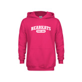 Youth Hot Pink Fleece Hoodie-Primary Mark