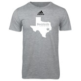 Adidas Sport Grey Logo T Shirt-Bearkats Texas