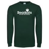 Dark Green Long Sleeve T Shirt-Bearkats