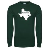 Dark Green Long Sleeve T Shirt-Bearkats Texas