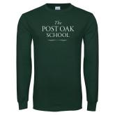 Dark Green Long Sleeve T Shirt-The Post Oak School