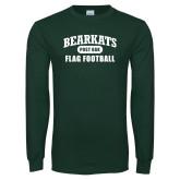 Dark Green Long Sleeve T Shirt-Flag Football
