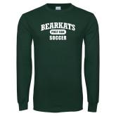 Dark Green Long Sleeve T Shirt-Soccer