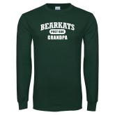Dark Green Long Sleeve T Shirt-Bearkats Grandpa