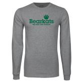 Grey Long Sleeve T Shirt-Bearkats
