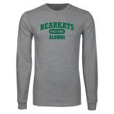 Grey Long Sleeve T Shirt-Bearkats Alumni