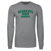 Grey Long Sleeve T Shirt-Bearkats Grandpa