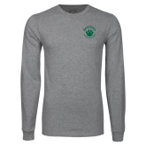 Grey Long Sleeve T Shirt-Paw Logo