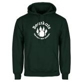Dark Green Fleece Hood-Paw Logo