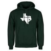 Dark Green Fleece Hood-Bearkats Texas