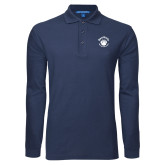 Navy Long Sleeve Polo-Paw Logo