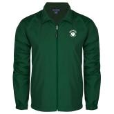 Full Zip Dark Green Wind Jacket-Paw Logo