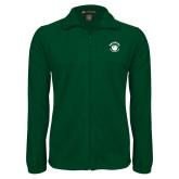 Fleece Full Zip Dark Green Jacket-Paw Logo