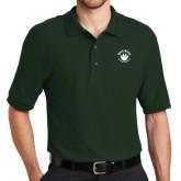 Dark Green Easycare Pique Polo-Paw Logo