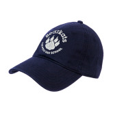 Navy Twill Unstructured Low Profile Hat-Paw Logo
