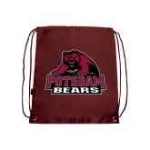 Maroon Drawstring Backpack-Potsdam Bears - Official Logo