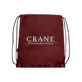 Maroon Drawstring Backpack-Crane School of Music