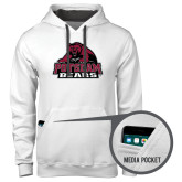Contemporary Sofspun White Hoodie-Potsdam Bears - Official Logo