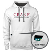 Contemporary Sofspun White Hoodie-Crane School of Music